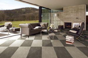 Wohnzimmer Fliesendesign Melbourne – PM03 & PM05 Poliert 600 X 1200